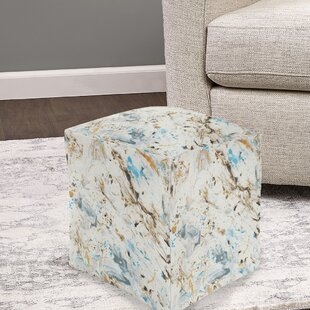 Attridge Marbled Pouf by Charlton Home