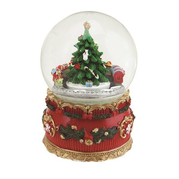 northlight christmas tree and train musical snow globe reviews wayfair - Christmas Musical Snow Globes