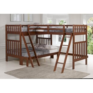 Reasor Twin Over Full LShaped Bunk Bed by Harriet Bee