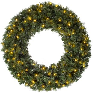 Majestic 100cm Lighted Artificial Wreath By The Seasonal Aisle