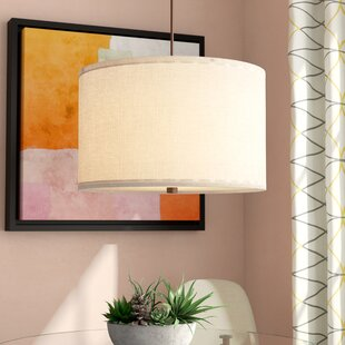 semi pendant light glossy orange finish. Chasse 3-Light Line Shade Drum Pendant Semi Light Glossy Orange Finish