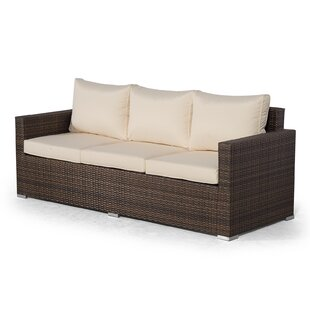 Giardino Brown Large Rattan 3 Seater Sofa Outdoor Patio Garden Furniture With Cover By Sol 72 Outdoor