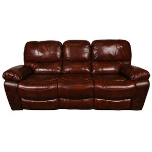 Gracehill Modern Leather Reclining Sofa by T..