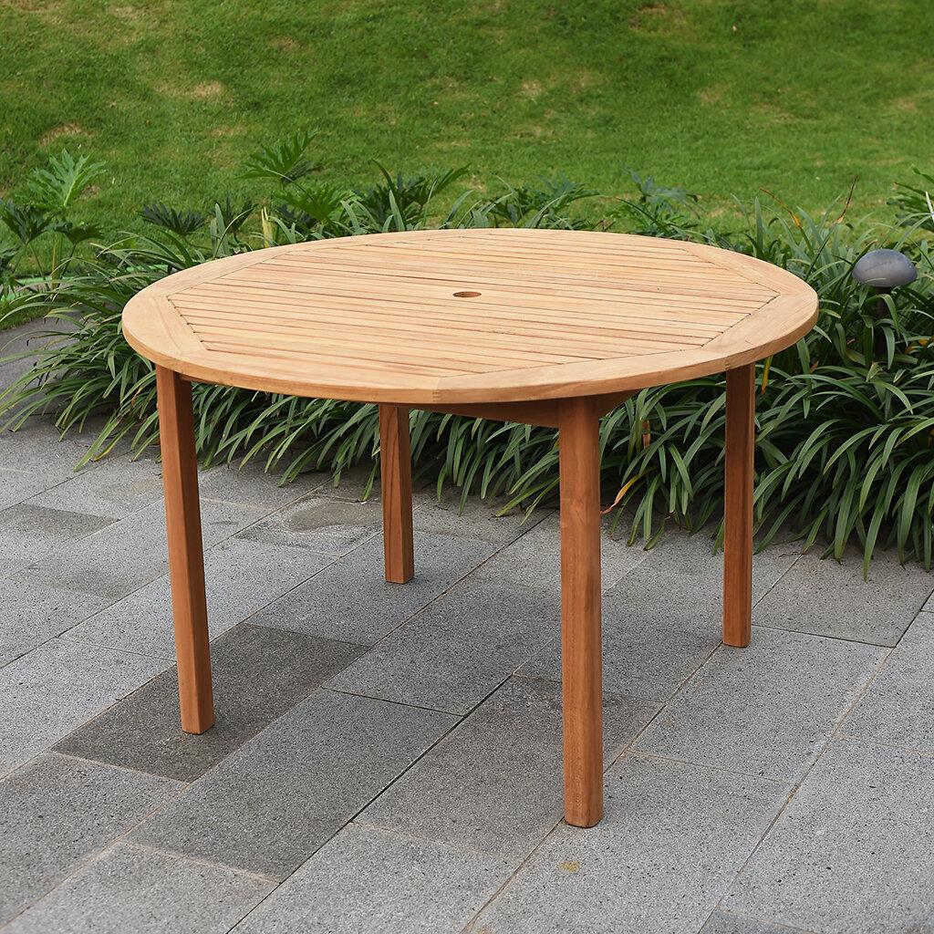 Birch lane heritage summerton teak round dining table reviews birch lane