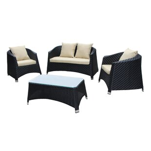Julie 4 Piece Sofa Set with Cushions