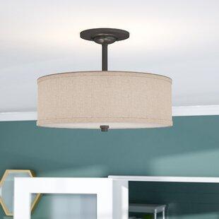 Reviews Havens 3-Light Semi Flush Mount ByBrayden Studio