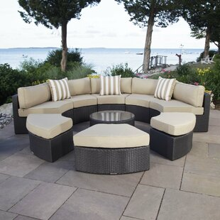 Santorini 9 Piece Sectional Seating Group with Cushions by Madbury Road