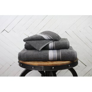 Imogen Weft Stripe 6 Piece 100% Cotton Bath Towel Set