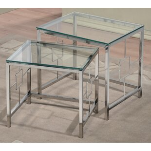 Review 2 Piece Nesting Table Set by !nspire