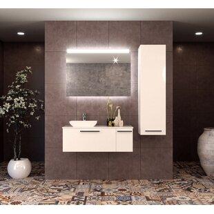 Best Price Isabella 40 Wall-Mounted Single Bathroom Vanity Set with Mirror ByOrren Ellis