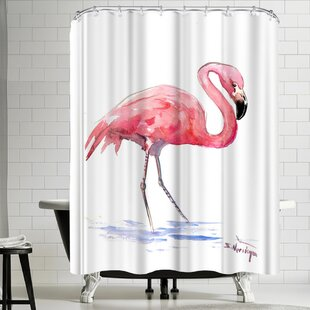 Suren Nersisyan Flamingo 3 Single Shower Curtain
