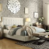 Cassville Linen Upholstered Platform Bed by Three Posts