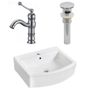 Read Reviews Ceramic 22 Bathroom Sink with Faucet and Overflow By Royal Purple Bath Kitchen