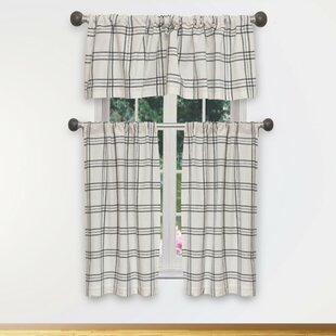 Cotto 3 Piece Blackout Kitchen Curtain Set by Gracie Oaks
