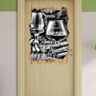 Whisky With Cigar Wall Sticker By East Urban Home