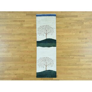 Best Price One-of-a-Kind Becker Folk Art Hand-Knotted Wool Area Rug By Isabelline