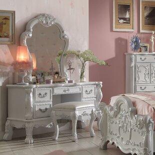 Welliver Vanity Set with Mirror by Astoria Grand
