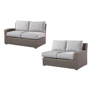 Pleasant Avenue Left and Right Side Facing Love Seat Sectional with Cushions