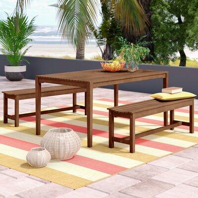 Peachy Tovar Bench 3 Piece Dining Set Beachcrest Home Creativecarmelina Interior Chair Design Creativecarmelinacom