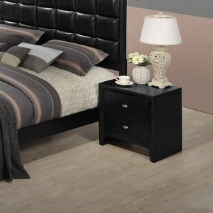 Roundhill Furniture Gloria 2 Drawer Nightstand