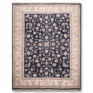 Reviews One-of-a-Kind Emelia Traditional Hand-Knotted 8'2 x 10'6 Wool Black/Ivory/Rose Area Rug By Isabelline