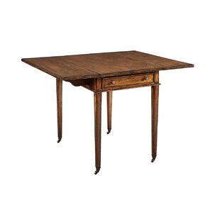 Vizcarrondo Drop Leaf Solid Wood Dining Table by Millwood Pines