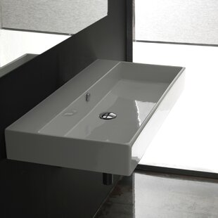 Compare prices Unlimited Ceramic Rectangular Vessel Bathroom Sink with Overflow ByWS Bath Collections