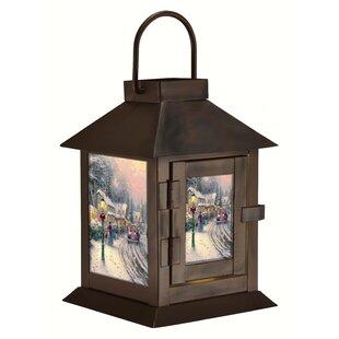 Thomas Kinkade Village Christmas Metal Lantern by The Holiday Aisle