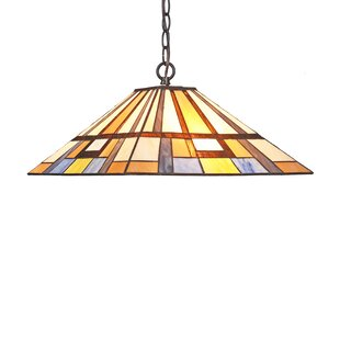 Harva Mission 2-Light Rectangle Pendant by Millwood Pines