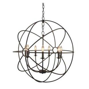 Charlton Home Ingrid Orb 8-Light Globe Ch..