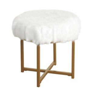 Willa Arlo Interiors Gustavo Faux Fur Round Stool