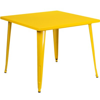 Turn on the Brights Brandt Metal Dining Table Color: Yellow