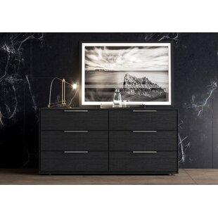 Wade Logan Cleethorpes 6 Drawer Double Dresser