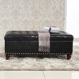 Bellasario Collection Elegant Classic Tufted Wood Storage Bench