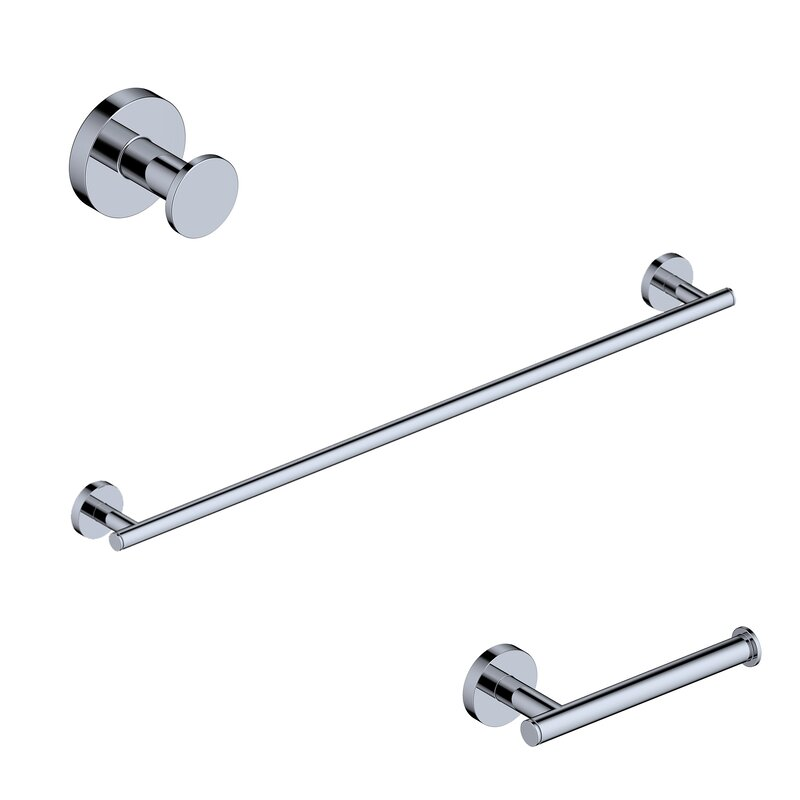 Ws Bath Collections 3 Piece Bathroom Hardware Set Wayfair