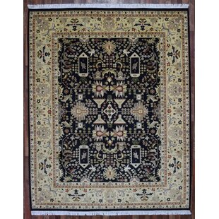 One-of-a-Kind Evert Tabriz Oriental Hand-Woven Wool Blue Area Rug Isabelline