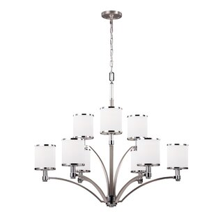 Latitude Run Gladys 9-Light Shaded Chandelier