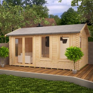 Gamma 18 X 16 Ft. Tongue And Groove Log Cabin By Tiger Sheds