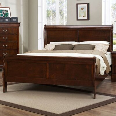 Alcott Hill Hemmer Sleigh Bed