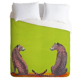 East Urban Home Leopard Lovers Duvet Cover Set