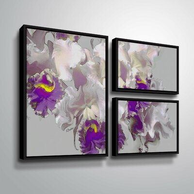 Abstract Orchid Graphic Art Print Multi Piece Image on