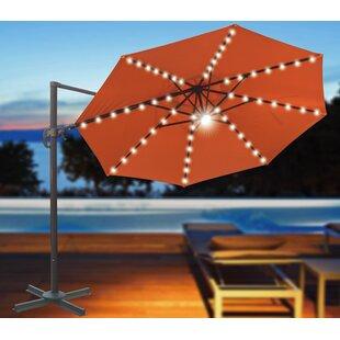 Brayden Studio Conti 11.5' Lighted Umbrella
