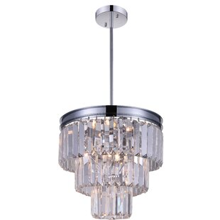 Weiss 8-Light Crystal Chandelier by CWI Lighting