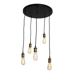 17 Stories Freudenberger Vintage 5-Light Cluster Pendant
