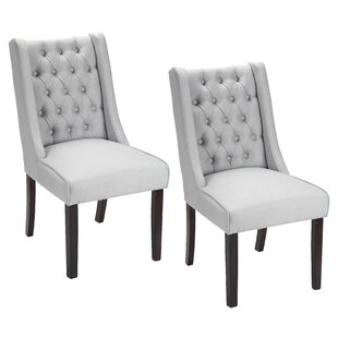 Gracie Oaks Plaistow Button Tufted Upholstered Dining Chair (Set of 2)