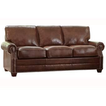 Canora Grey Pedigo Leather Sofa Bed | Wayfair