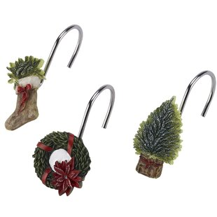 Shop For Farmhouse Holiday 12 Piece Shower Curtain Hooks Set By Avanti Linens