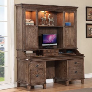 Fairfax Home Collections Harrison Flats Executive Desk with Hutch