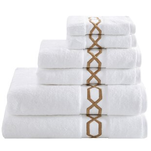 Dade 6 Piece 100% Cotton Towel Set
