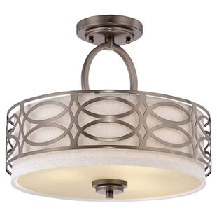 Willa Arlo Interiors Helina 3-Light Semi Flush Mount